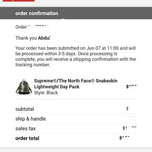 Supreme Bags - Supreme tnf north face snakeskin day back pack